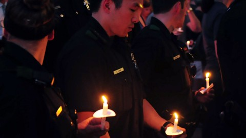 candle-light-vigil-police