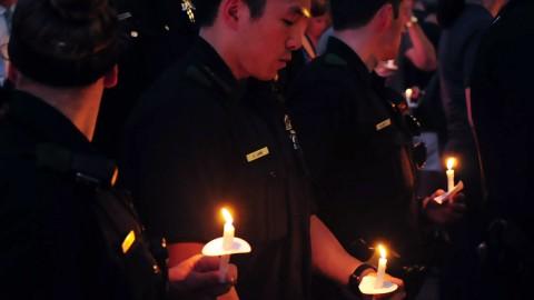 candle-light-vigil-police
